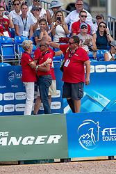 THEODORESCU Monica (Bundestrainerin Dressur), WINTER-SCHULZE Madeleine (Pferdebesitzer), RÖSER Klasus (Chef d´Equipe), HILBERATH Jonny (Co-Bundestrainer), KOENE Dr. Marc (Tierarzt)<br /> Tryon - FEI World Equestrian Games™ 2018<br /> Grand Prix de Dressage Teamwertung und Einzelqualifikation<br /> 13. September 2018<br /> © www.sportfotos-lafrentz.de/Stefan Lafrentz