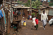 Nairobi, June 2010 -   the Kibera street scene outside the St. Catherine's children's home.