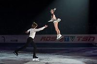 KELOWNA, BC - OCTOBER 24: Pairs competitors and bronze medalists, Evgenia Tarasova and Vladimir Morozov of Russia perform during the gala of Skate Canada International at Prospera Place on October 24, 2019 in Kelowna, Canada. (Photo by Marissa Baecker/Shoot the Breeze)