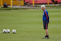 BOGOTA, May 25, 2018  Head coach Jose Pekerman of Colombia's national soccer team attends a training session before the Russia 2018 FIFA World Cup finals, in Bogota, capital of Colombia, on May 24, 2018.  da) (vf) (Credit Image: © Jhon Paz/Xinhua via ZUMA Wire)