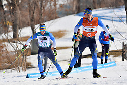 RESHETYNSKYI Iaroslav UKR B2 Guide: STEFURAK Nazar competing in the ParaBiathlon, Para Biathlon at  the PyeongChang2018 Winter Paralympic Games, South Korea.