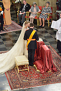 19.OCTOBER.2012. LUXEMBOURG<br /> <br /> GRAND DUKE GUILLAUME OF LUXEMBOURG AND COUNTESS STEPHANIE OF LUXEMBOURG ARE PICTURED DURING THEIR WEDDING CEREMONY AT THE CATHEDRAL OF OUR LADY OF LUXEMBOURG<br /> <br /> BYLINE: EDBIMAGEARCHIVE.CO.UK<br /> <br /> *THIS IMAGE IS STRICTLY FOR UK NEWSPAPERS AND MAGAZINES ONLY*<br /> *FOR WORLD WIDE SALES AND WEB USE PLEASE CONTACT EDBIMAGEARCHIVE - 0208 954 5968*