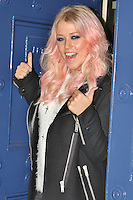 LONDON - November 14: Amelia Lily arriving at the Theatre Royal to perform a unique curtain-call in the smash-hit musical Shrek The Musical for BBC Children in Need POP goes the Musical www.bbc.co.uk/pudsey (Photo by Brett D. Cove)