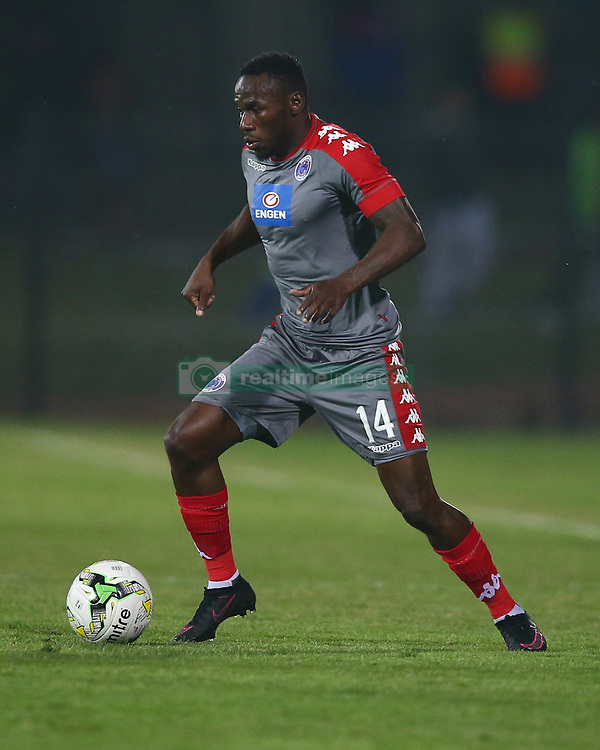 Onismor Bhasera of SuperSport United during the 2016 Premier Soccer League match between Maritzburg Utd and SuperSport United held at the Harry Gwala Stadium in Pietermaritzburg, South Africa on the 21st September 2016<br /> <br /> Photo by:   Steve Haag / Real Time Images