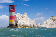 The Needles rocks and lighthouse during the Round the Island Race. Isle of Wight.<br /> Picture date: Saturday July 2, 2016.<br /> Photograph by Christopher Ison &copy;<br /> 07544044177<br /> chris@christopherison.com<br /> www.christopherison.com
