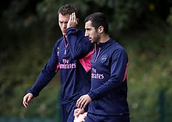 Arsenal's Henrikh Mkhitaryan during the training session at London Colney, Hertfordshire.
