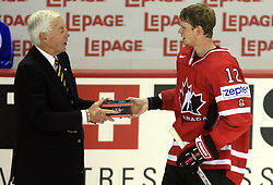 Eric Staal of Canada best player of the game at ice-hockey game Canada vs Germany in Qualifying Round Group F, at IIHF WC 2008 in Halifax,  on May 10, 2008 in Metro Center, Halifax, Nova Scotia,Canada. Canada won 11:1. (Photo by Vid Ponikvar / Sportal Images)