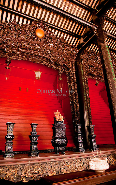 An altar for worship in part of the Chen Family Ancestral Temple in Guangzhou.