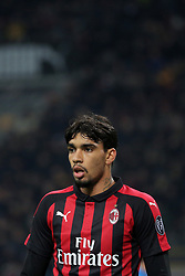 January 26, 2019 - Milan, Milan, Italy - Lucas Paqueta' #39 of AC Milan during the serie A match between AC Milan and SSC Napoli at Stadio Giuseppe Meazza on January 26, 2018 in Milan, Italy. (Credit Image: © Giuseppe Cottini/NurPhoto via ZUMA Press)