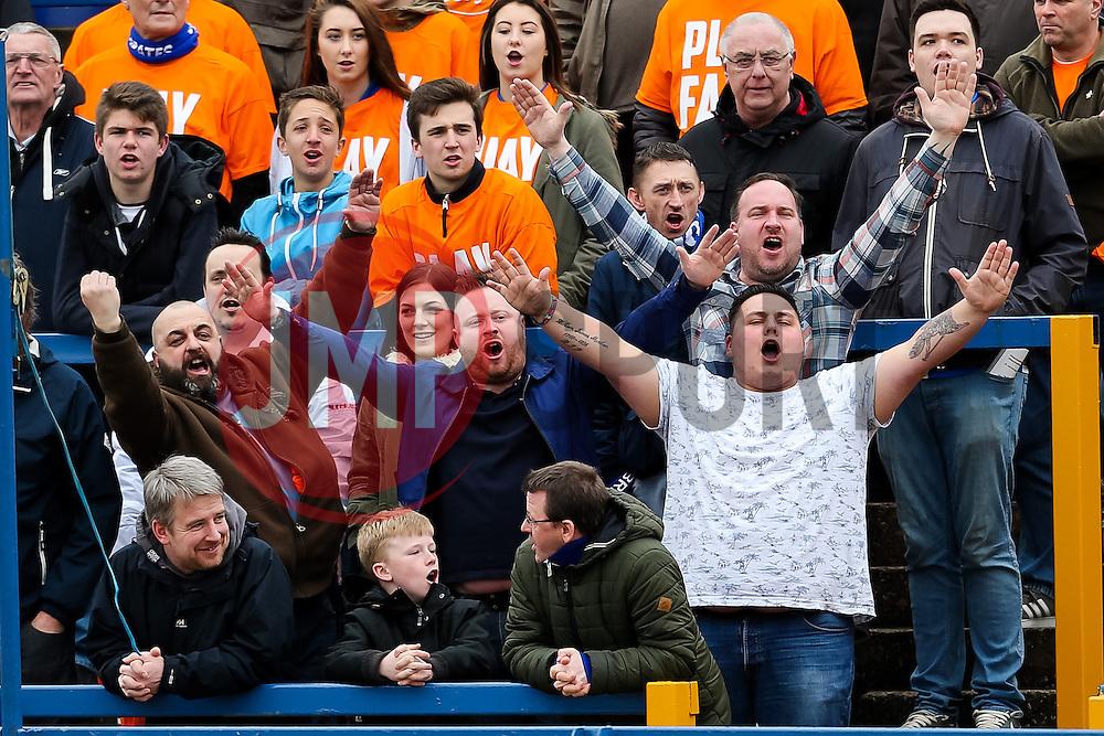 Bristol Rovers fans before kick off - Photo mandatory by-line: Neil Brookman/JMP - Mobile: 07966 386802 - 28/03/2015 - SPORT - Football - Macclesfield - Moss Rose - Macclesfield Town v Bristol Rovers - Vanarama Football Conference