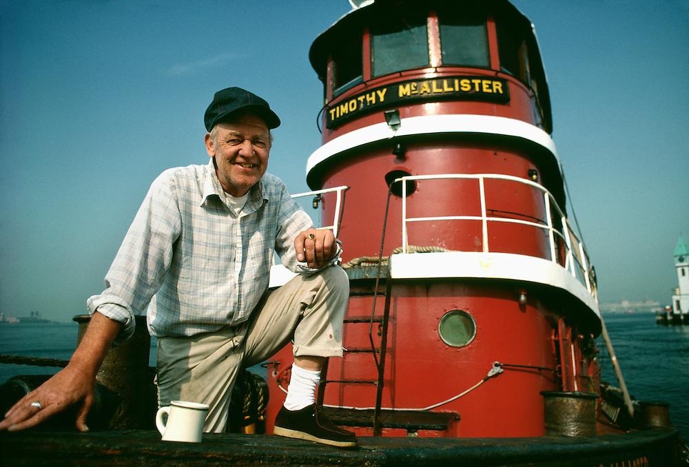 Portrait of tugboat captain, New York City, NY