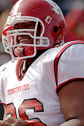 28 October 2006: Mychal Savage..Youngstown State turned off over 15,000 fans as the win blew their way, cooling off Illinois State 27-13. Nationally ranked teams Youngstown State Penguins and Illinois State Redbirds competed at Hancock Stadium on the campus of Illinois State University in Normal Illinois.<br />
