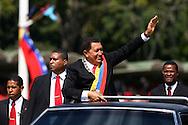 Venezuelan president, Hugo Chavez in Caracas, Jan. 10, 2007. (ivan gonzalez)