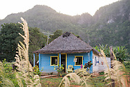 Domingo is an old farmer, this is his house behind the main streets of VI&ntilde;ales, known for it's landscape of small mountains. <br />