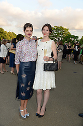 Left to right, PIXIE GELDOF and SOPHIE ELLIS-BEXTOR at the Fashion Rules Exhibition Opening at Kensington Palace, London W8 on 4th July 2013.