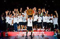 Joie PSG - Daniel NARCISSE - 04.06.2015 - Tremblay en France / Paris Saint Germain - 26eme journee de Division 1  -Beauvais<br />Photo : Dave Winter / Icon Sport