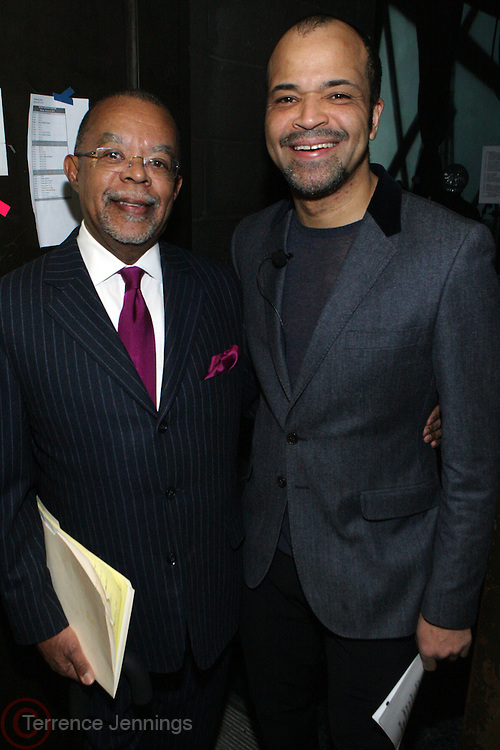 24 January 2011- Harlem, NY- l to r: Henry Louis Gates and Jeffrey Wright backstage at The Schomburg Center's 85th Anniversary Gala Celebration held at Aaron Davis Hall  on The City College Campus, January 24, 2011 in the Village of Harlem, New York City.  Photo Credit: Terrence Jennings