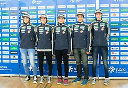 Ursa Bogataj, Ema Klinec, Spela Rogelj, Maja Vtic and Katja Pozun during official presentation of the outfits of the Slovenian Ski Teams before new season 2015/16, on October 6, 2015 in Kulinarika Jezersek, Sora, Slovenia. Photo by Vid Ponikvar / Sportida