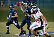 Juan Diego quarterback Nick Markosian (15) makes a pass on the run during the 3A Quarterfinal Football between Hurricane and Juan Diego, Friday, Nov. 2, 2012.
