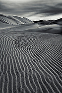 Wind pattern in sand dune, Eureka Dunes, Death Valley National Park, California