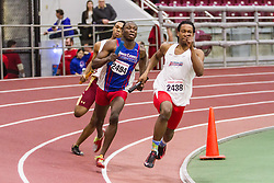 Boston University Multi-team indoor track & field, men 4x400 meter relay, heat 1, Delaware State