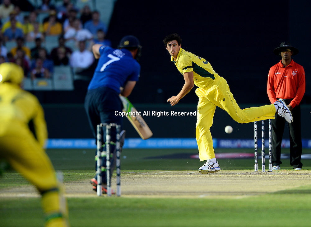 Mitchell Marsh (AUS)<br /> Australia vs England / Match 2<br /> 2015 ICC Cricket World Cup / Pool A<br /> MCG / Melbourne Cricket Ground <br /> Melbourne Victoria Australia<br /> Saturday 14 February 2015<br /> &copy; Sport the library / Jeff Crow