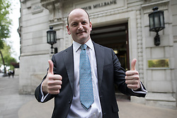 © Licensed to London News Pictures . 20/04/2017 . London , UK . DOUGLAS CARSWELL seen in Westminster today (20th April 2017) . Douglas Carswell MP has announced he will not contest his current seat of Clacton , having quit UKIP previously . Photo credit: Joel Goodman/LNP