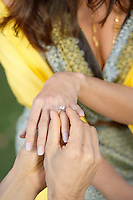 Placing Wedding Ring on Woman's Finger