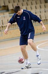Klemen Cehte at Open training session for the public of Slovenian handball National Men team before European Championships Austria 2010, on December 27, 2009, in Terme Olimia, Podcetrtek, Slovenia.  (Photo by Vid Ponikvar / Sportida)