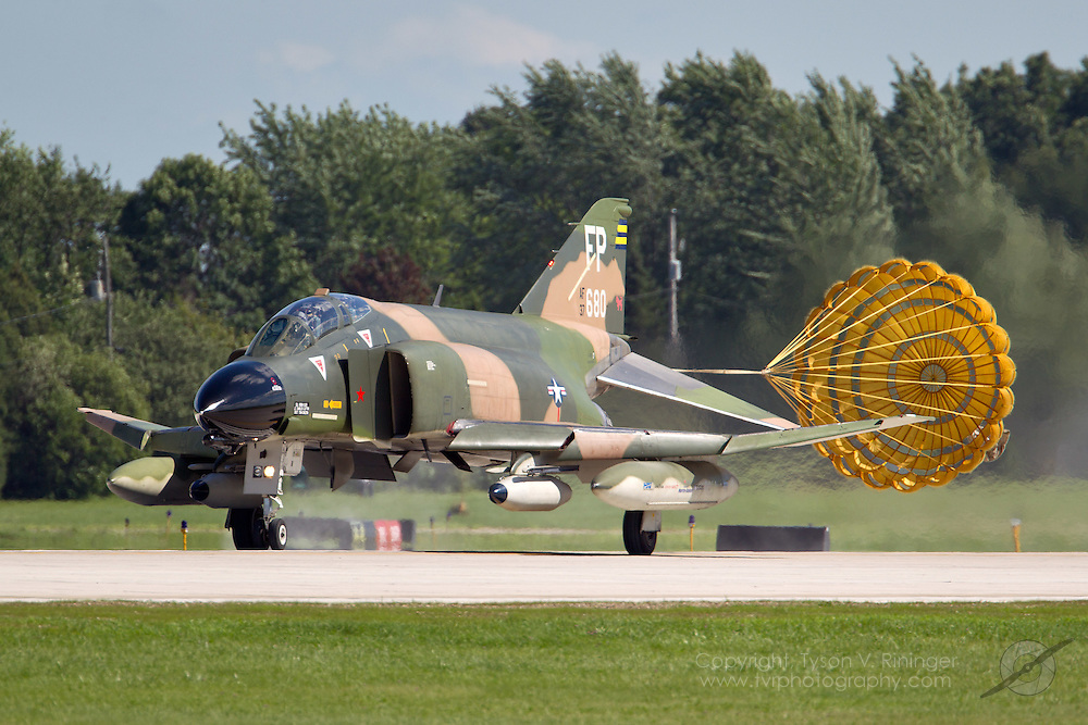 Currently painted in the colors of FP-680 (AF63-7680), the jet flown by Robin Olds during Operation Bolo, F-4D Phantom II, AF65-0749 is being flown by Ret. LtCol. Jerry 'Jive' Kirby. One of the only civilian-operated Phantoms in the world, it took an act of Congress by means of an amendment to the Defense Authorization Bill of 1999 to allow the Collings Foundation to acquire and operate its F-4 Phantom.