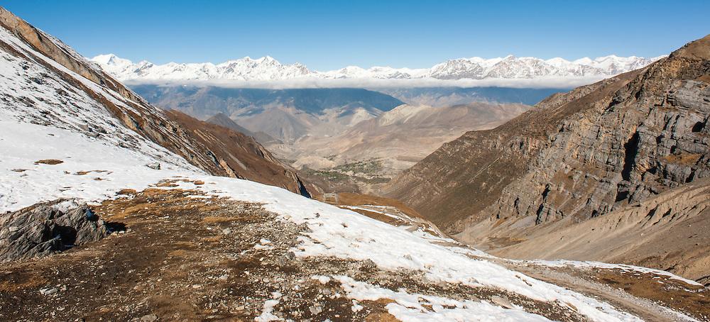 View from Thorong La Peak (Nepal)