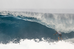 December 8, 2017 - Oahu, Hawaii, U.S. - - Billy Kemper of Hawaii advances to the Quarter Finals of the Pipe Invitational after placing second in Heat 1 of Round One at Pipe, Oahu. (Credit Image: © WSL via ZUMA Wire/ZUMAPRESS.com)
