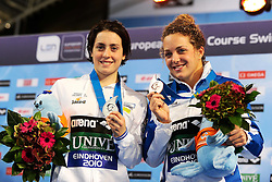 25.11.2010, Pieter van den Hoogenband Zwemstadion, Eindhoven, NED, Kurzbahn Schwimm EM, im Bild ..Arianna POLIERI e Caterina GIACCHETTI 200m Butterfly Argento e Bronzo. // Eindhoven 25/11/2010 .European Short Course Swimming Championships, EXPA/ InsideFoto/ Staccioli+++++ ATTENTION - FOR AUSTRIA/AUT, SLOVENIA/SLO, SERBIA/SRB an CROATIA/CRO CLIENT ONLY +++++ / SPORTIDA