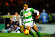 Yeovil Town's Tahvon Campbell during the Sky Bet League 2 match between Yeovil Town and Plymouth Argyle at Huish Park, Yeovil, England on 23 February 2016. Photo by Graham Hunt.