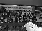 """""""The National Fish Cookery Award""""..29.04.1982..04.29.1982.29th April 1982.1982..This competition sponsored by Bord Iascaigh Mhara was held in The Clare Inn, Newmarket-on Fergus,Co Clare. the competition was open to schools across the country.The finalists:(L-R) Front Row. Edel McCormack,Roscommon. Maura Geaney,Galway. Dorothy Branley,Sligo. Ruth O'Connor,Roscommon. Deirdre Nolan,Carlow. Josephine Brennan,Carlow. Evelyn Corrigan,Wexford. Miriam Henshaw,Dublin. Ruth Jackson,Dublin..Back row. Una Daly,Wicklow. Katriona Power,Dublin. Grainne Finnan,Monaghan. Martina Jordan,Longford. Sarah Gilhooley,Westmeath. Catherine O'Sullivan,Laois. Jacqueline Williams,Cork. Caroline Tutty,Waterford. Martha Browne, Kerry. Rosanna Stone, Tipperary."""