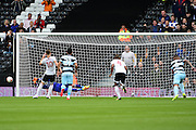 Queens Park Rangers goalkeeper Alex Smithies (1) saves a penalty during the EFL Sky Bet Championship match between Fulham and Queens Park Rangers at Craven Cottage, London, England on 1 October 2016. Photo by Jon Bromley.