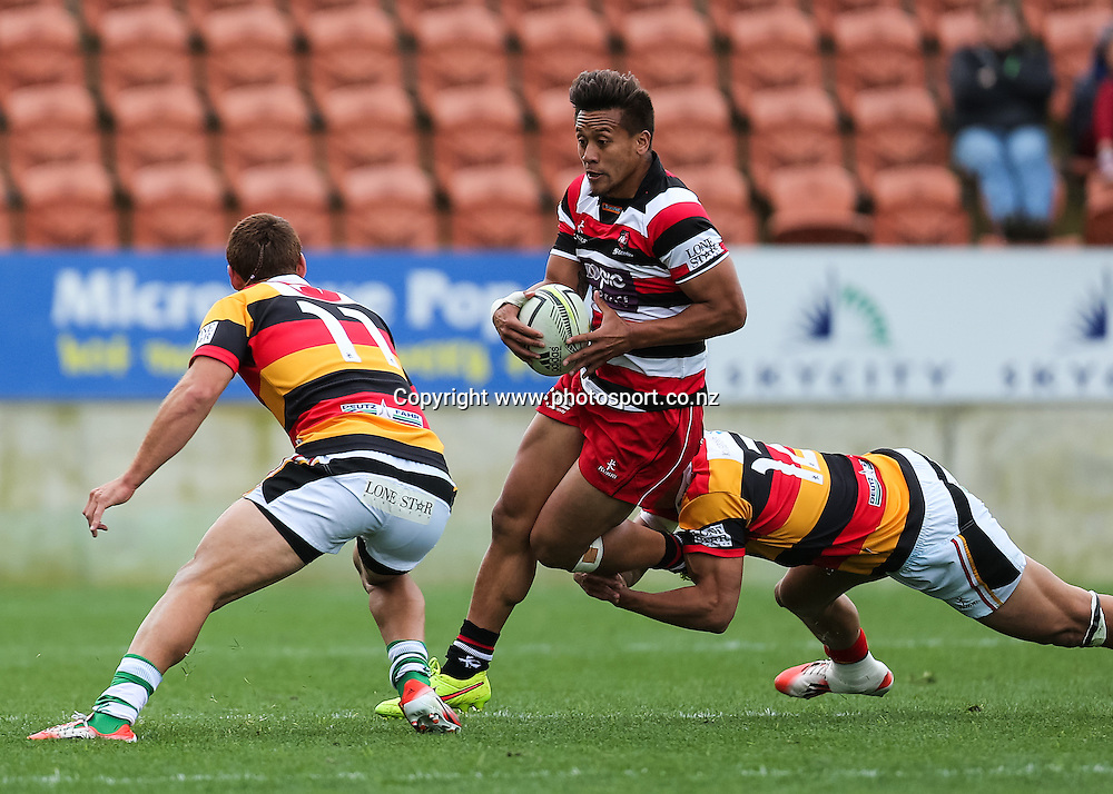 Counties Maunkau captain Tim Nanai-Williams in action during the ITM Cup rugby match - Waikato v Counties Manukau at Waikato Stadium, Hamilton on Sunday 14 September 2014.  Photo: Bruce Lim / www.photosport.co.nz