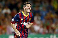 Onderwerp/Subject: FC Barcelona - Champions League<br /> Reklame:  <br /> Club/Team/Country: <br /> Seizoen/Season: 2013/2014<br /> FOTO/PHOTO: Lionel MESSI ( Lionel Andres MESSI ) of FC Barcelona celebrating his hattrick goal ( 4 - 0 ). (Photo by PICS UNITED)<br /> <br /> Trefwoorden/Keywords: <br /> #02 #09 $94 &plusmn;1377835766895<br /> Photo- &amp; Copyrights &copy; PICS UNITED <br /> P.O. Box 7164 - 5605 BE  EINDHOVEN (THE NETHERLANDS) <br /> Phone +31 (0)40 296 28 00 <br /> Fax +31 (0) 40 248 47 43 <br /> http://www.pics-united.com <br /> e-mail : sales@pics-united.com (If you would like to raise any issues regarding any aspects of products / service of PICS UNITED) or <br /> e-mail : sales@pics-united.com   <br /> <br /> ATTENTIE: <br /> Publicatie ook bij aanbieding door derden is slechts toegestaan na verkregen toestemming van Pics United. <br /> VOLLEDIGE NAAMSVERMELDING IS VERPLICHT! (&copy; PICS UNITED/Naam Fotograaf, zie veld 4 van de bestandsinfo 'credits') <br /> ATTENTION:  <br /> &copy; Pics United. Reproduction/publication of this photo by any parties is only permitted after authorisation is sought and obtained from  PICS UNITED- THE NETHERLANDS