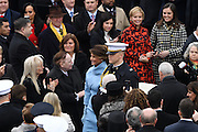 Melania Trump is escorted for the President Inaugural Ceremony on Capitol Hill January 20, 2017 in Washington, DC. Donald Trump became the 45th President of the United States in the ceremony.