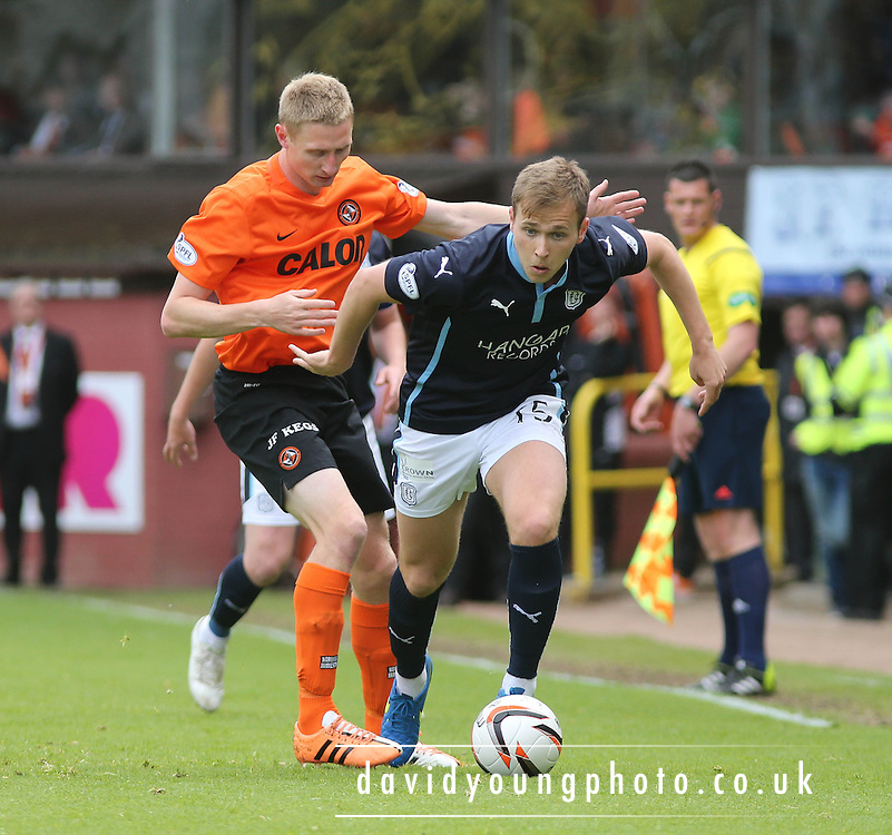 Dundee's Greg Stewart and Dundee United's Chris Erskine - Dundee United v Dundee at Tannadice Park in the SPFL Premiership<br /> <br />  - &copy; David Young - www.davidyoungphoto.co.uk - email: davidyoungphoto@gmail.com