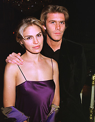 PRINCE EMANUELLE DI SAVOIA and MISS NATASHA ANDREAS, at a party in London on 30th January 1999.MNP 36