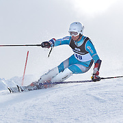 Emil Bjoertomt Kristiansen, Norway, in action during the Men's Slalom event during the Winter Games at Cardrona, Wanaka, New Zealand, 24th August 2011. Photo Tim Clayton...