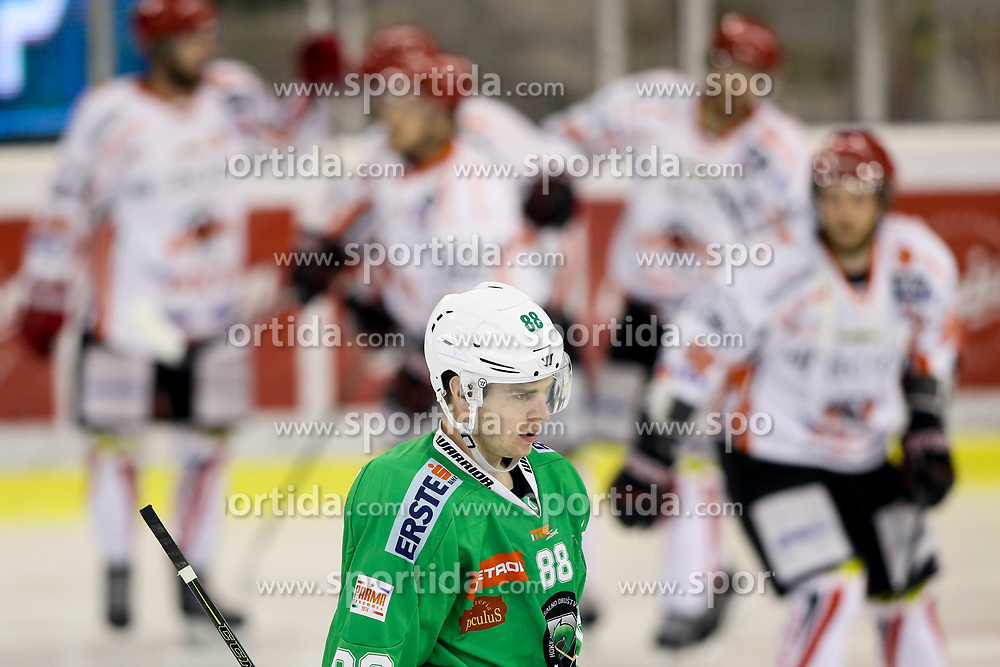 Miha Zajc of Olimpija dissapointed during ice hockey match between HDD Olimpija Ljubljana and HDD SIJ Acroni Jesenice in Final of Slovenian League 2016/17, on April 12, 2017 in Hala Tivoli, Ljubljana, Slovenia. Photo by Matic Klansek Velej / Sportida