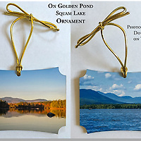 &quot;On Golden Pond&quot; Squam Lake Ornament. Approx 3x3&quot;<br />