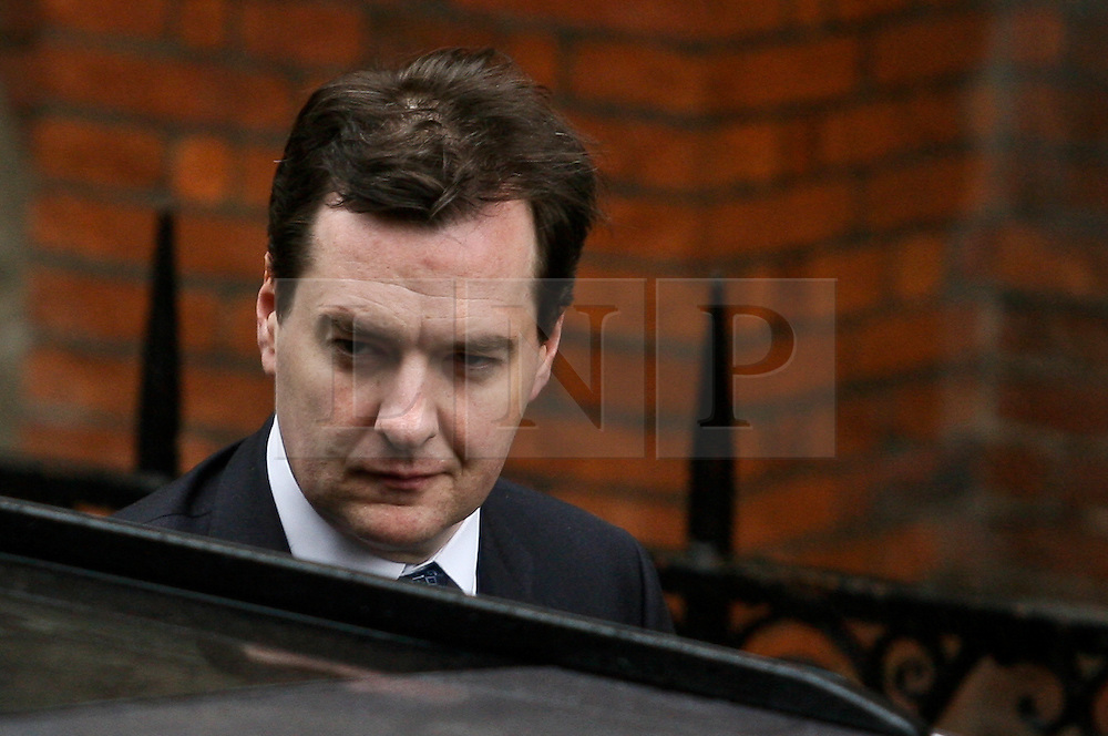 © Licensed to London News Pictures. 11/06/2012. London,Britain.Chancellor George Osborne arrives at the Leveson Inquiry in the Royal Courts of Justice. Photo credit : Thomas Campean/LNP..