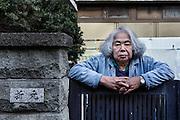 Kawasaki, November 21 2014 - Poetrait of Japanese artist Tatsumi ORIMOTO at his place.