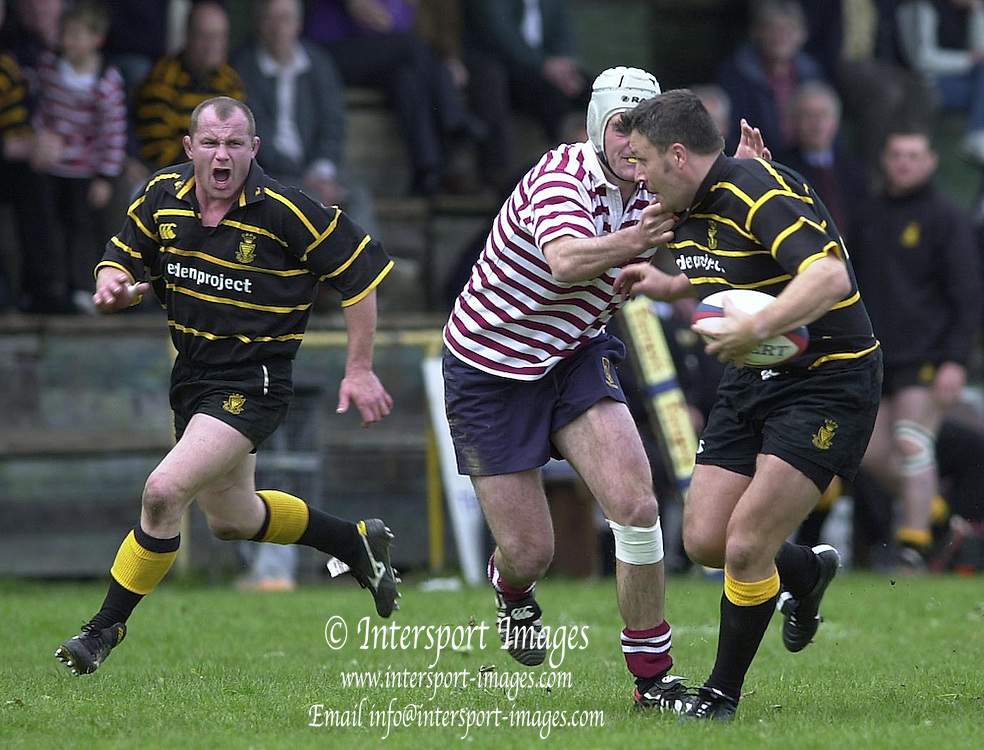 04/05/2002.Sport - Rugby Union.Tetley's County Championship 1 st Rd.Surrey vs Cornwall.Full back Steve Larkins joins the attacking line....[Mandatory Credit, Peter Spurier/ Intersport Images].[Mandatory Credit, Peter Spurier/ Intersport Images].