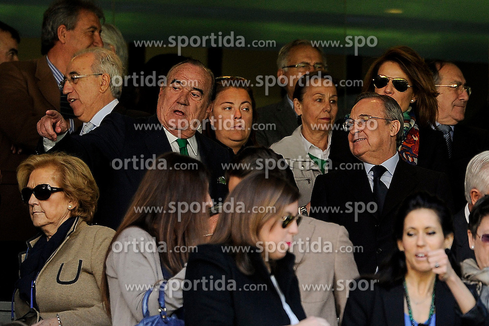 05.04.2015, Estadio Santiago Bernabeu, Madrid, ESP, Primera Division, Real Madrid vs FC Granada, 29. Runde, im Bild Real Madrid&acute;s president Florentino Perez // during the Spanish Primera Division 29th round match between Real Madrid CF and Granada FC at the Estadio Santiago Bernabeu in Madrid, Spain on 2015/04/05. EXPA Pictures &copy; 2015, PhotoCredit: EXPA/ Alterphotos/ Luis Fernandez<br /> <br /> *****ATTENTION - OUT of ESP, SUI*****