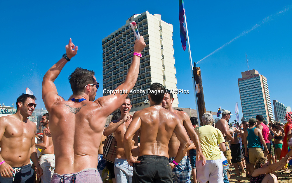 Beach party at Gordon beach followed the annual Gay pride in Tel Aviv