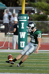 12 October 2013:  Michael Kelley during an NCAA division 3 football game between the North Park vikings and the Illinois Wesleyan Titans in Tucci Stadium on Wilder Field, Bloomington IL